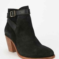 H By Hudson Lewknor Suede Heeled Ankle Boot- Black