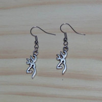 Browning Charm Earrings for the Gun Loving Hunter Country Girl