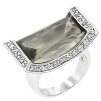 Ivy Cradle Cocktail Ring, size : 05