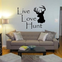 Live Love Hunt wall decal