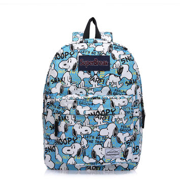 Cartoons Snoopy Backpack Waterproof Canvas Pc Headphones [4962071556]