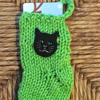 Cat Gift Card Holder, Cat Lovers Gift Card Stocking, miniature Christmas stocking, Pet Lover, Pet Sitter Gift, Cat ornament, Cat stocking