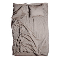 Duvet cover Full or Twin size bed linen Brown linen cotton bedding by Lovely Home Idea