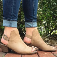 Anything Goes Booties- Taupe