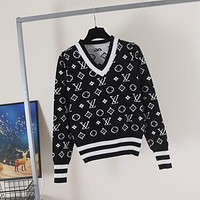 Louis Vuitton LV Women Fashion Hooded Top Pullover Sweatshirt Hoodie