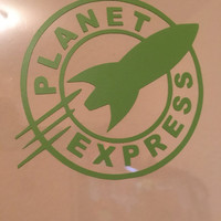 Planet Express | Futurama | The Ship | Vinyl Decal | Sticker | Laptop Decal | Back Glass Decal | Geek | No Background