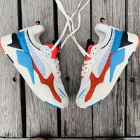 "Puma RS-0/X ""White&Blue&Red"" Men Women Running Shoes"