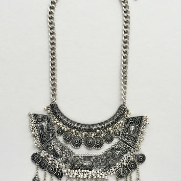 Antiqued Silver Banjara Necklace - Made in NYC