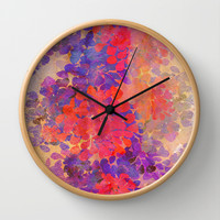 floral composition Wall Clock by Marianna Tankelevich