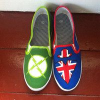 X-Ray and Vav canvas slip on shoes