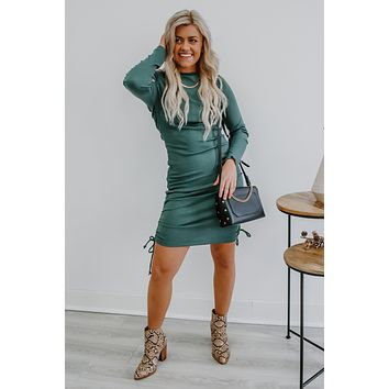 Falling For Me Dress - Teal