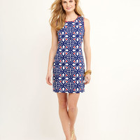 Shop Whale Tail Tile Embroidered Dress at vineyard vines