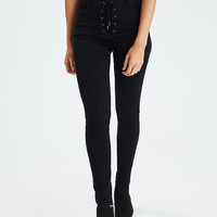 AEO Denim X Super Hi-Rise Jegging, Black