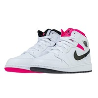 Air Jordan 1 Mid Hyper Pink Black