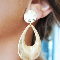 Fit Together Earrings: Gold