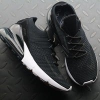 Nike Air Max 270 Flyknit AO1023-002 Black Sport Running Shoes - Best Online Sale