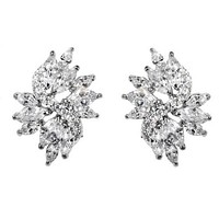 Shani Marquise Cluster Statement Earrings | 6ct