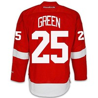 Mike Green Detroit Red Wings Home Jersey by Reebok - SEWN TACKLE TWILL NAME/NUMBER