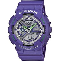 Casio Mens G-Shock XL Dusty Neon - Purple & Silver Metallic 3D Ana-Digi Dial