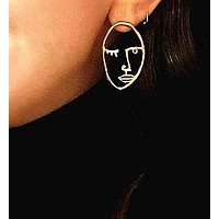 Fashion design face human body sexy accessory earring