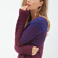 FOREVER 21 Dip Dyed Sweater Royal/Wine