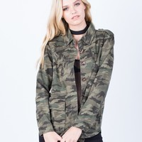 Distressed Camo Jacket