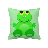 Cute Frog Graphic Pillows from Zazzle.com