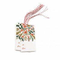 winter berries gift tags