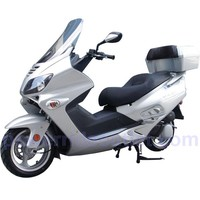 """2014 Roketa MCR-54-250 4 Stroke Roadster 250cc Water Cooled Gas Scooter with 13"""" Aluminum Rims, Alarm, Remote Switch, Radio with MP3 Output, Windshield, Honda Clone 250cc Water Cooled Engine, Large Rear Cargo Trunk (Fully Assembled)"""