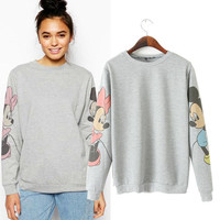 Cartoon Print Long Sleeve Sweatshirts