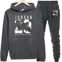 JORDAN 23 Hoodies Sweatshirt Men/Women New Fashion Bulls 23 Hoodie Sweatshirts+Sweatpants Suits Warm Fleece Hooded Pullover