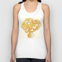 Sunny Valentine Hearty Weather Unisex Tank Top by Sandy Moulder