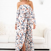 Test Your Luck Printed Dress (Ivory)