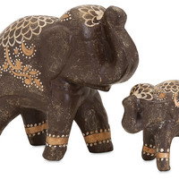 Asst. of 2 Elephant Figurines, Brown, Figurines & Animal Figures