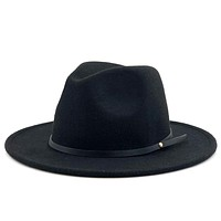 Wool Vintage Trilby Felt Fedora Hat With Wide Brim