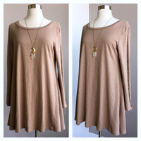 A Cut Out Tunic in Tan