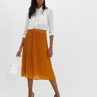 Y.A.S pleated midi skirt at asos.com