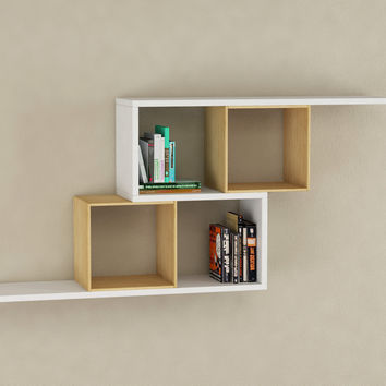 DECORTIE ZERRE Bookcase Wall Shelves #
