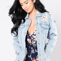 Stereo Love Denim Jacket - Vintage