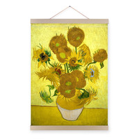 Vincent Van Gogh Famous Modern Yellow Sunflower Poster Prints Original Floral Vase Canvas Oil Paintings Home Fine Wall Art Gifts