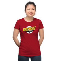 Bazinga! Fitted Ladies' Tee - Red,
