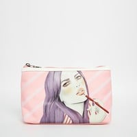 Kelly Thompson Limited Edition Lipstick Gal Make Up Bag at asos.com