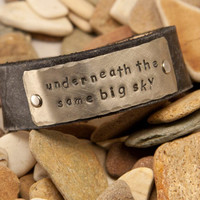 Underneath the same big sky leather cuff by MichelleVerbeeck