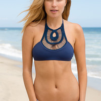 Bettinis - Crochet Halter Top | Navy
