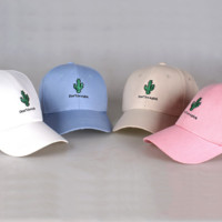 Summer Fresh Cactus Embroidered Baseball Outdoor Cap Hat