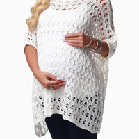 Ivory-Knit-Maternity-Sweater