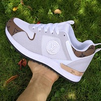 LV Shoes Louis Vuitton Sneakers Classic Trending Sports Flat Classic Shoes White