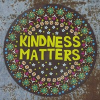 "Natural Life Cherry Car Magnet ""Kindness Matters"" Brown Background Accessory"