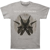 Alice In Chains Men's  Tar Pit T-shirt Grey