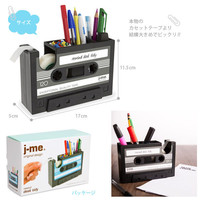 Popular Creative adhesive tape holder Pen holder Vase Pencil Pot Stationery Desk Tidy Container office stationery supplier Gift